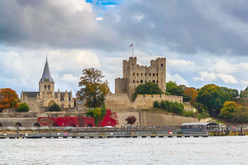 Rochester castle, viewed from the Medway