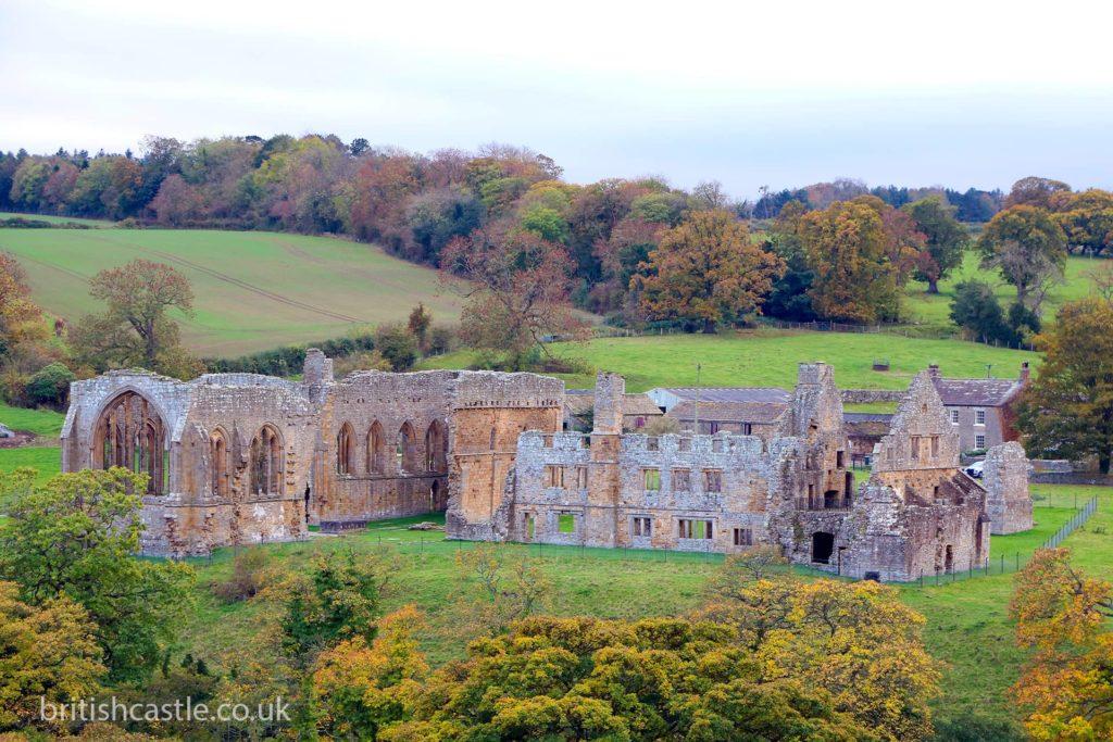The ruins of Egglestone Abbey