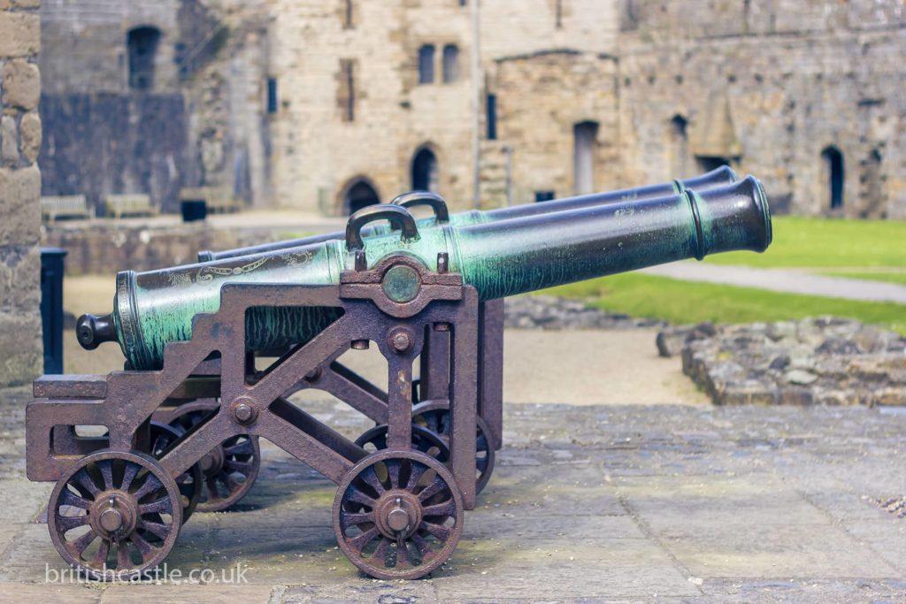 Cannon at Caernarfon Castle