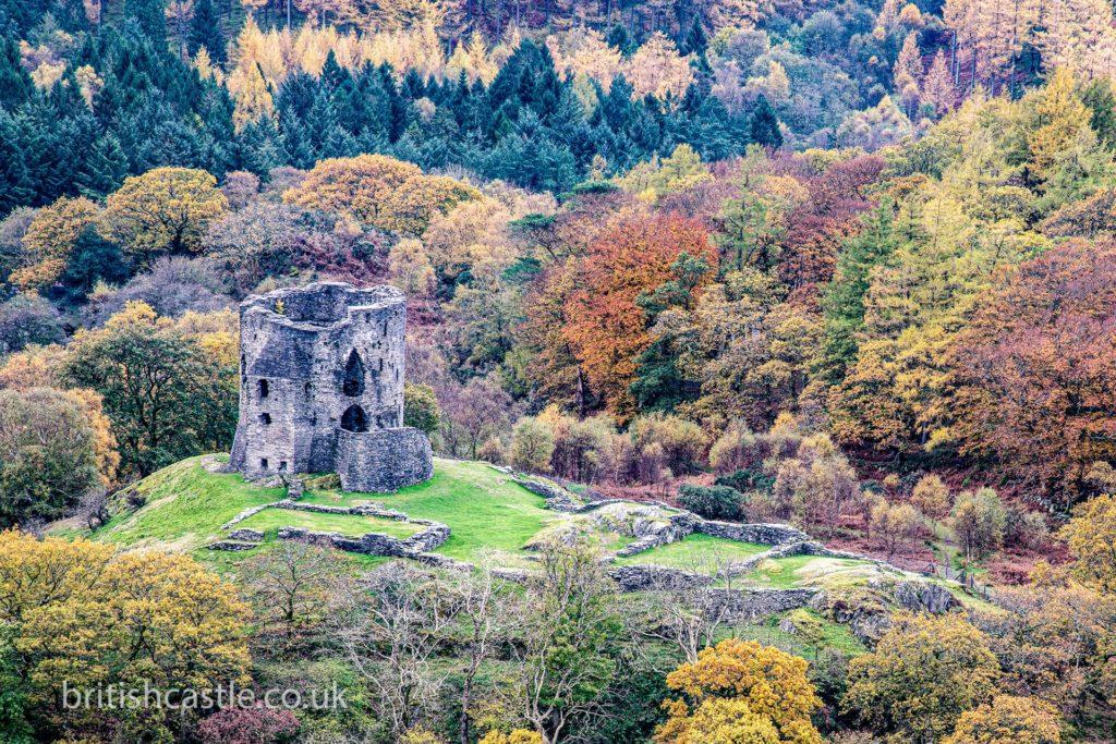 Dolbadarn Castle in autumn