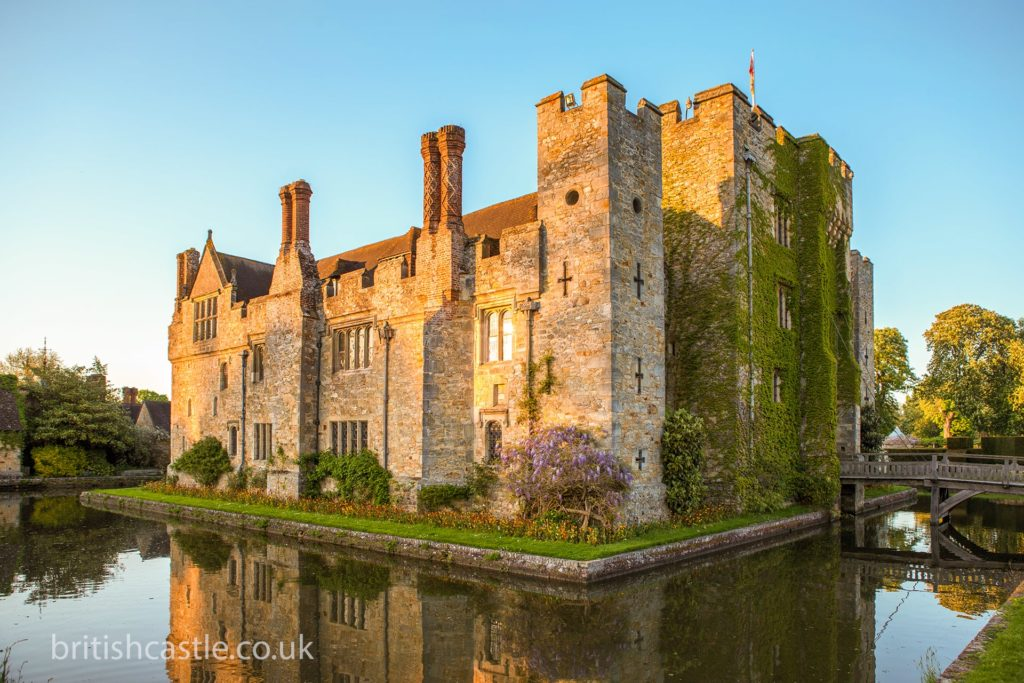 Hever castle at sunset